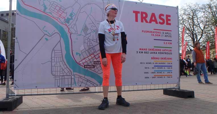 ilona tropa daugavpils pusmaratons 2018 šosejas skriešana